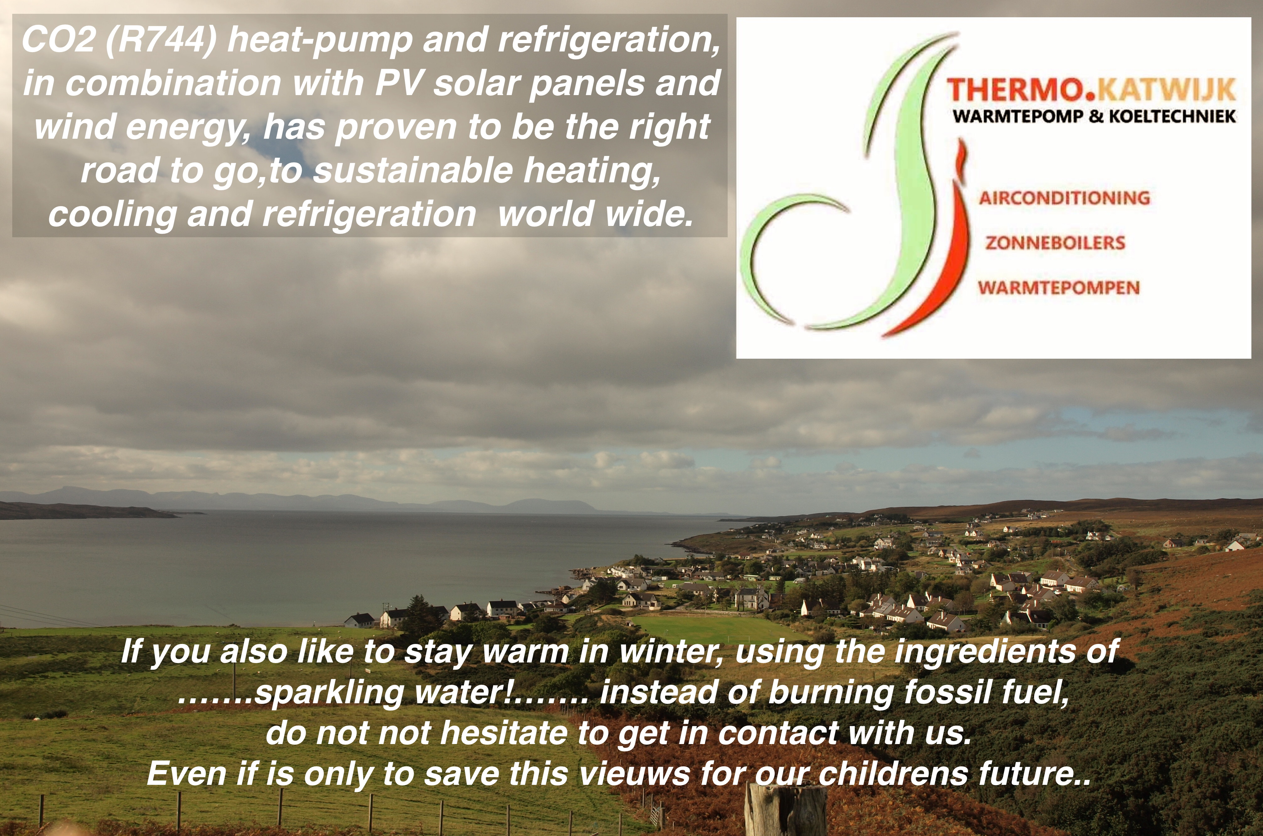 R744 Heatpump and refrigeration.